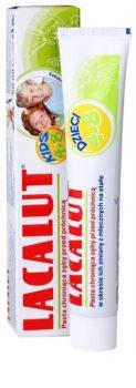 Lacalut Junior pasta do zębów w okresie wymiany zębów mlecznych na stałe
