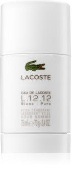 Lacoste Eau de Lacoste L.12.12 Blanc desodorizante em stick para homens 75 ml