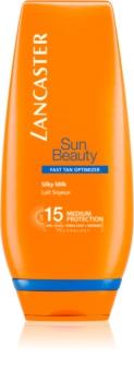 Lancaster Sun Beauty hedvábné opalovací mléko SPF 15