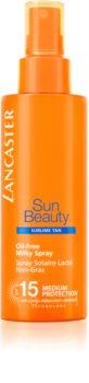Lancaster Sun Beauty leite bronzeador não gorduroso em spray  SPF 15