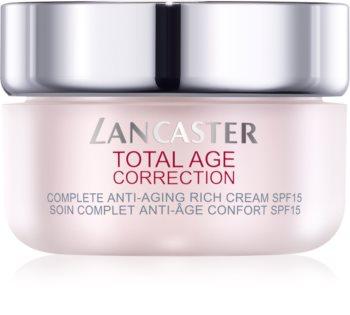 Lancaster Total Age Correction crème nourrissante anti-rides SPF 15
