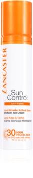 Lancaster Sun Control крем для засмаги обличчя з ефектом корекції зморшок SPF30