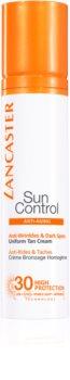 Lancaster Sun Control Zonnebrandcrème voor Gezicht met Anti-Rimpel Werking  SPF30