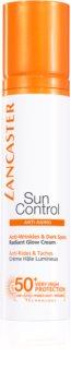Lancaster Sun Control слънцезащитен крем за лице с антибръчков ефект SPF 50+