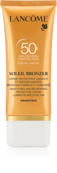 Lancôme Soleil Bronzer krema za sončenje proti staranju kože SPF 50