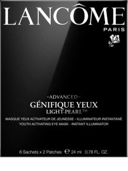 Lancôme Génifique Advanced Yeux Light-Pearl™ маска для очей у формі пластирю для омолодження шкіри