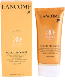 Lancôme Soleil Bronzer opalovací krém na obličej SPF 30