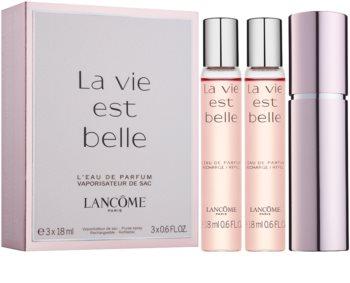 Lancôme La Vie Est Belle парфюмна вода за жени 3 x 18 мл. (1 бр. зареждащ се + 2 бр. пълнеж)