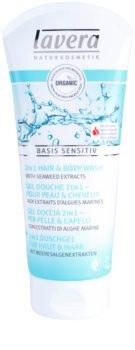 Lavera Basis Sensitiv gel de banho para corpo e cabelo