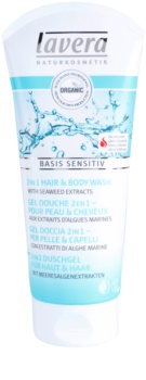 Lavera Basis Sensitiv gel doccia per corpo e capelli