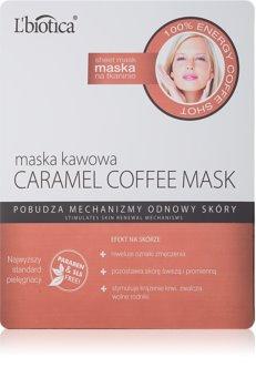 L'biotica Masks Caramel Coffee Cellaag Masker met Verfrissende Werking