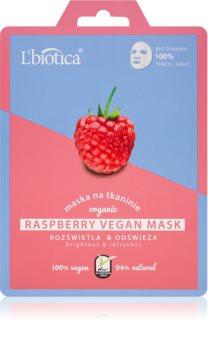 L'biotica Vegan Organic Raspberry sheet maska za blistav ten