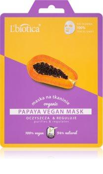 L'biotica Vegan Organic Papaya masque purifiant visage