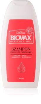 L'biotica Biovax Opuntia Oil & Mango regeneracijski šampon za poškodovane lase