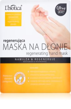 L'biotica Masks відновлююча маска для рук у формі рукавичок