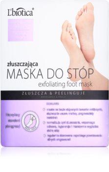 L'biotica Masks calzini esfolianti per ammorbidire e idratare la pelle dei piedi