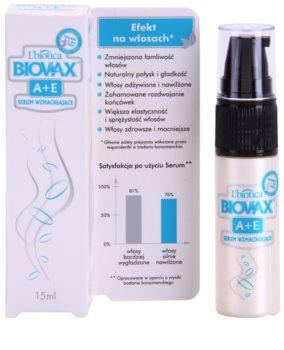L'biotica Biovax A+E nährendes Serum gegen brüchiges Haar