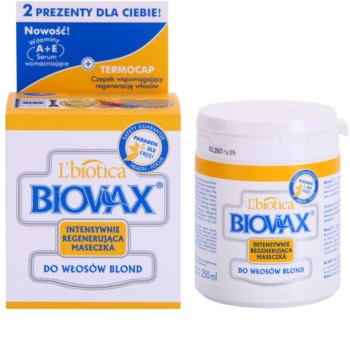 L'biotica Biovax Blond Hair megújító maszk szőke hajra