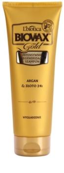 L'biotica Biovax Glamour Gold regeneračný šampón s arganovým olejom