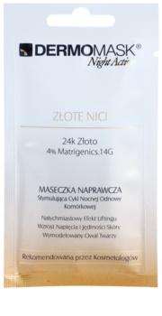 L'biotica DermoMask Night Active liftingová a spevňujúca maska s 24karátovým zlatom