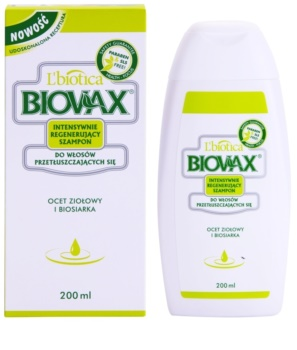 L'biotica Biovax Dull Hair szampon pielęgnująco - wzmacniający do przetłuszczających się włosów i skóry głowy