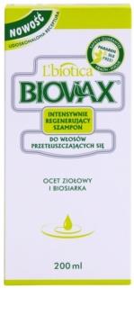 L'biotica Biovax Dull Hair ápoló és erősítő sampon zsíros hajra és fejbőrre