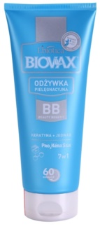L'biotica Biovax Keratin & Silk acondicionador con queratina  para facilitar el peinado