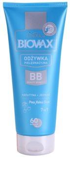 L'biotica Biovax Keratin & Silk kondicionér s keratínom pre jednoduché rozčesávanie vlasov
