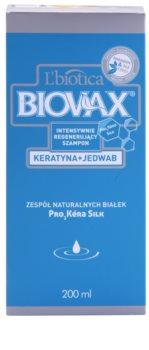 L'biotica Biovax Keratin & Silk stärkendes Shampoo mit Keratin Komplex