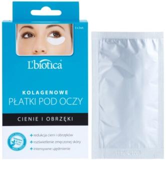 L'biotica Masks kolagenová maska na oční okolí proti otokům a tmavým kruhům