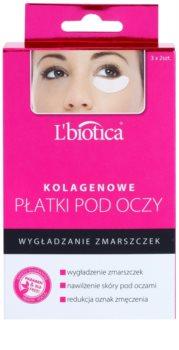 L'biotica Masks kolagenová maska na oční okolí s protivráskovým účinkem