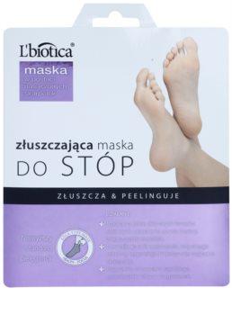 L'biotica Masks exfoliačné ponožky pre zjemnenie a hydratáciu pokožky nôh