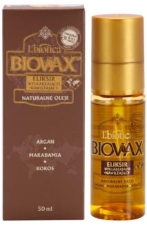 L'biotica Biovax Natural Oil Feuchtigkeitsspendendes Serum mit ernährender Wirkung für glänzendes und geschmeidiges Haar