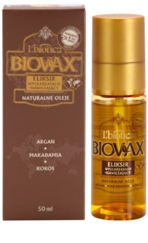 L'biotica Biovax Natural Oil sérum hidratante e nutritivo para cabelo brilhante e macio