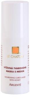 Le Chaton Argenté поживна творогова маска з медом