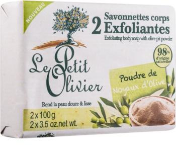 Le Petit Olivier Olive mydło peelingujące
