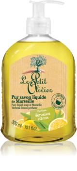 Le Petit Olivier Verbena & Lemon tekuté mydlo