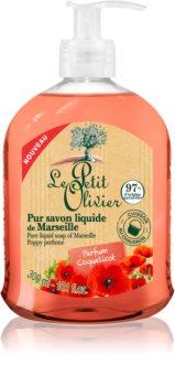 Le Petit Olivier Poppy Perfume sapun lichid