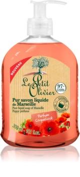 Le Petit Olivier Poppy Perfume tekuté mýdlo