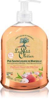 Le Petit Olivier Peach Blossom vyživující tekuté mýdlo