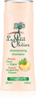 Le Petit Olivier Peach & Grapevine Flower šampón pre normálne vlasy