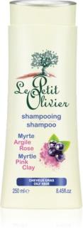 Le Petit Olivier Myrtle & Pink Clay šampon pro mastné vlasy