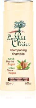 Le Petit Olivier Olive, Shea & Argan šampón pre suché a poškodené vlasy