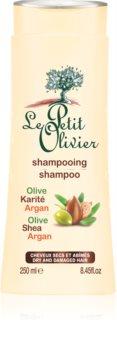 Le Petit Olivier Olive, Shea & Argan šampon pro suché a poškozené vlasy
