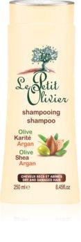 Le Petit Olivier Olive, Shea & Argan šampon za suhe in poškodovane lase