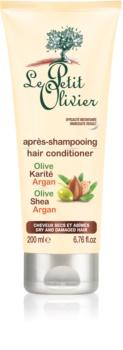 Le Petit Olivier Olive, Shea & Argan kondicionér pre suché a poškodené vlasy