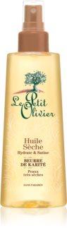 Le Petit Olivier Shea Butter suchý olej na vlasy i tělo