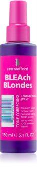 Lee Stafford Bleach Blondes balzam brez spiranja za hladne blond odtenke za nevtralizacijo rumenih odtenkov