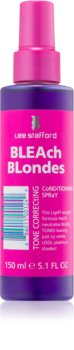 Lee Stafford Bleach Blondes Leave-In Conditioner for Cool Shades of Blonde Hair for Yellow Tones Neutralization
