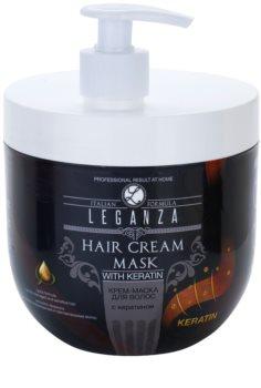 Leganza Hair Care máscara cremosa com queratina